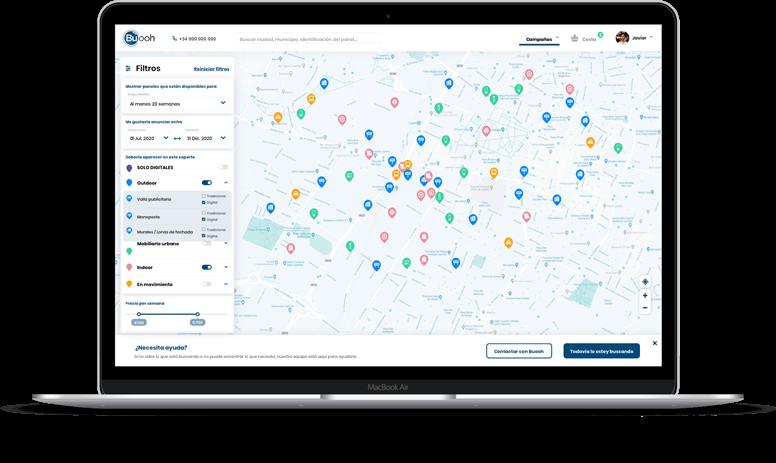 Mapa plataforma publicidad Buooh